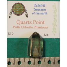 Quartz Point with Chlorite Phantom