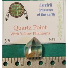 Quartz Point With Yellow Phantoms